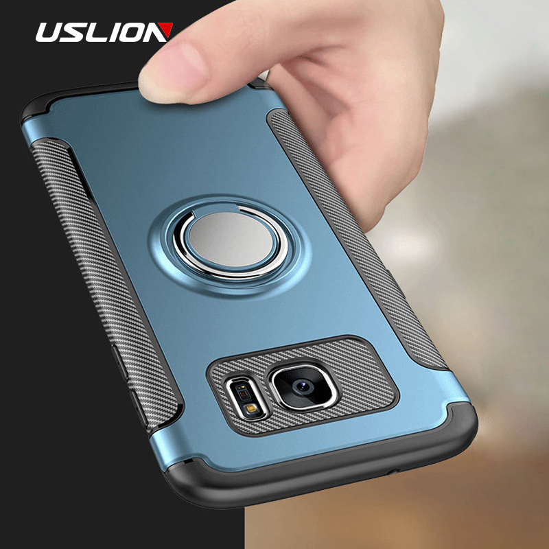 USLION Luxury Magnetic Ring <font><b>Holder</b></font> Bracket <font><b>Phone</b></font> <font><b>Cases</b></font> For <font><b>Samsung</b></font> Galaxy S10 S10e <font><b>S9</b></font> S8 Plus s7 Edge Note 8 9 Cover Back <font><b>Case</b></font> image