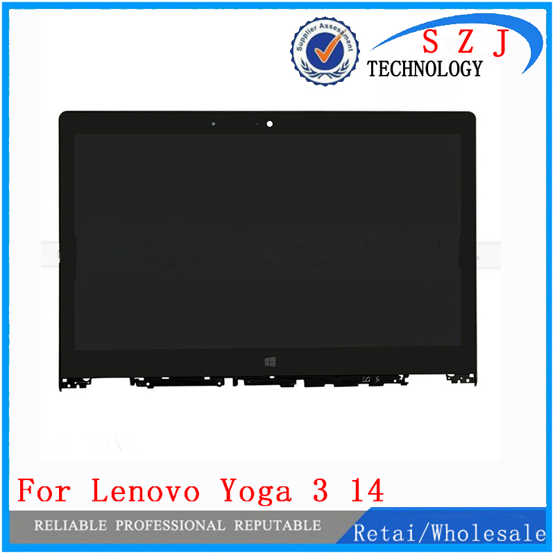 New 14 inch case LP140WF3-SPL2 For Lenovo Yoga 3 14 lcd display screen repair panel with frame LCD Assembly Laptop Free shipping new 10 1 inch case for lenovo yoga 10 b8080 b8080 f b8080 h full lcd display touch screen panel digitizer assembly with frame