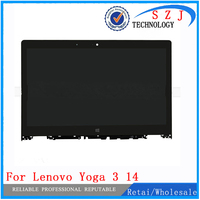 New 14 inch LP140WF3 SPL2 For Lenovo Yoga 3 14 lcd display screen repair panel with frame LCD Assembly Laptop