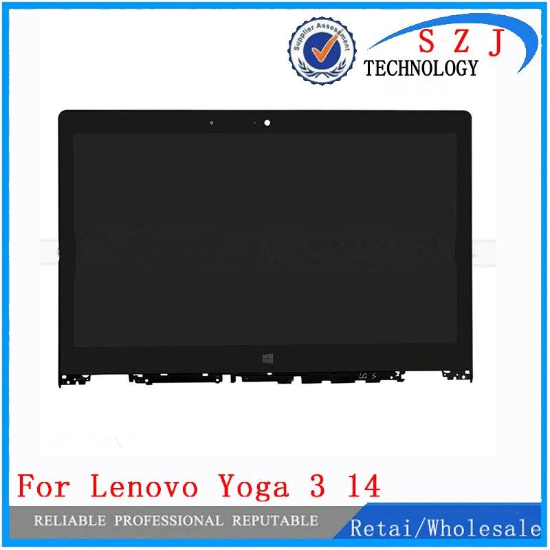 Nouveau 14 pouces LP140WF3-SPL2 pour Lenovo Yoga 3 14 lcd écran panneau de réparation avec cadre LCD assemblage ordinateur portable