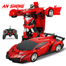 New 2 in 1 RC Car Transformation Robots Sports Vehicle Model Toys Cool Deformation Kids Gifts For Boys Legoes