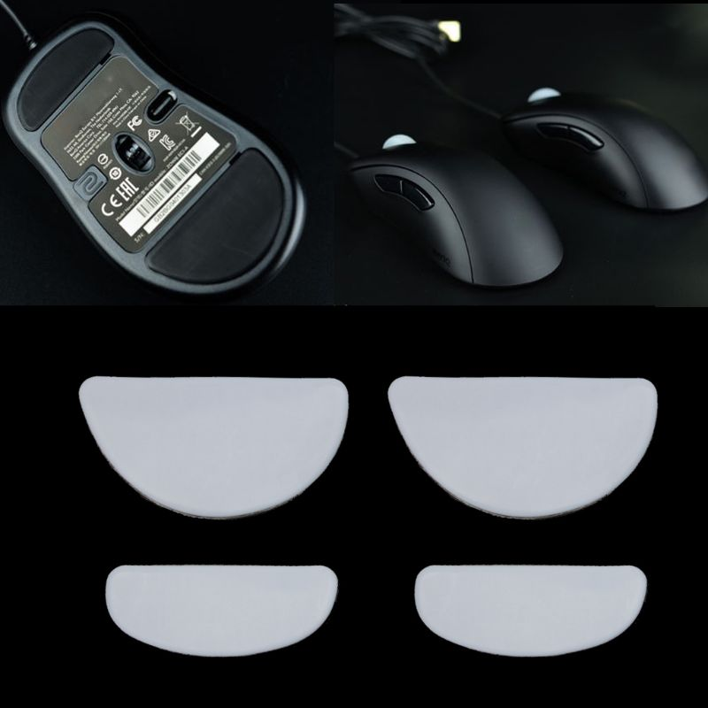 2 Sets/pack Tiger Gaming Mouse Feet Mouse Skate For ZOWIE EC1-A/EC2-A/EVO Gaming Mouse White Teflon Mouse Glides Curve Edge