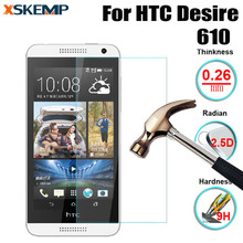 XSKEMP 2.5D Premium Tempered Glass For HTC Desire 610 9H Hardness Genuine No Fingerprint Screen Protector Film Explosion-proof