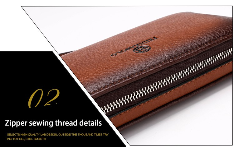 2016 Luxury Male Leather Purse Men\'s Clutch Wallets Handy Bags Business Carteras Mujer Wallets Men Black Brown Dollar Price (32)