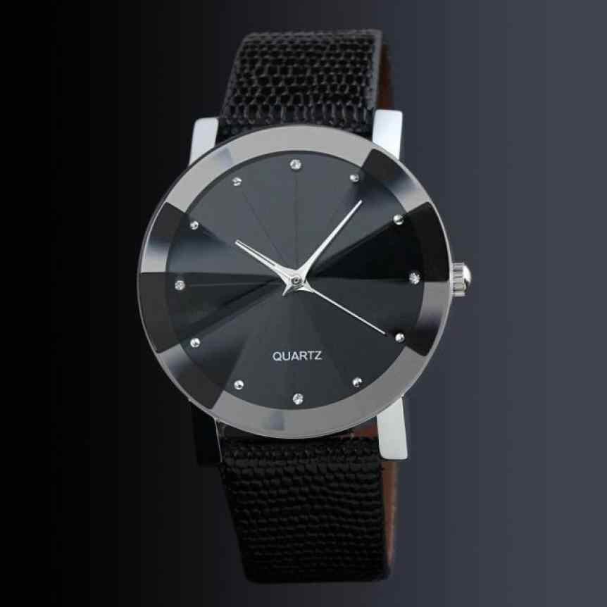 שעון יד גברים 2017 יוקרה פו עור זכר שעון קוורץ שעון פשוט Desgin קוורץ-שעון Relogio Masculino