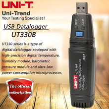 UNI T UT330B USB Data Logger Mini PC Connection Temperature Humidity Meter Data Storage Data Readback