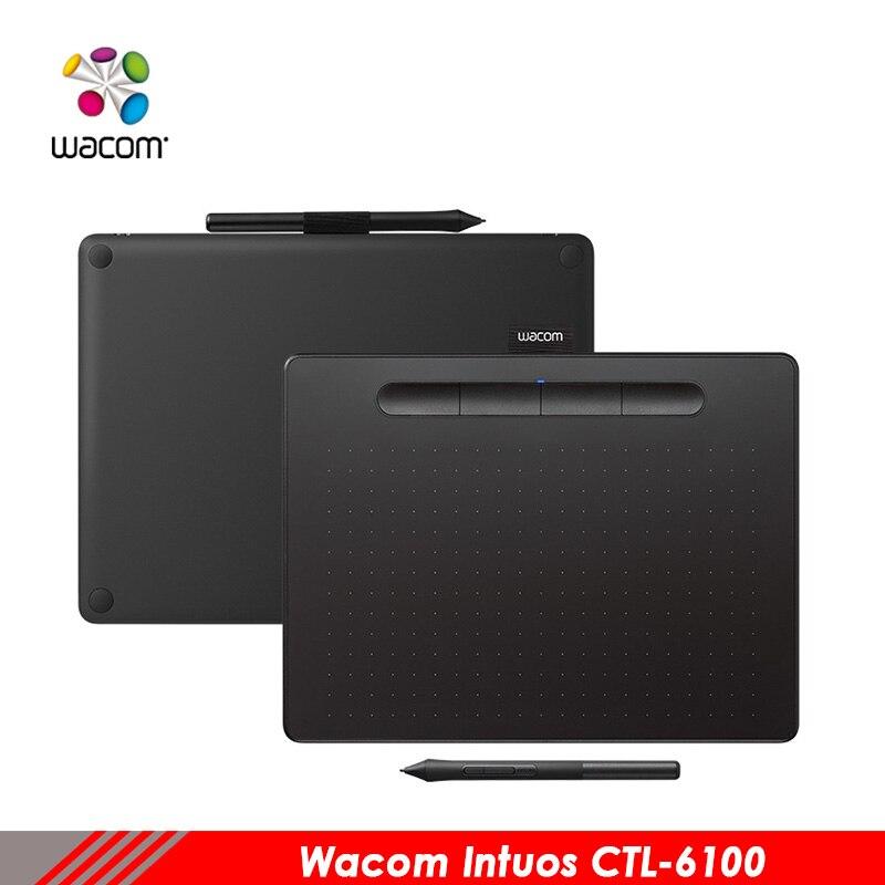 Wacom tablet CTL-6100 intuos main-peint ordinateur de bord planche à dessin électronique PS tablet Auxiliaire conception tablet