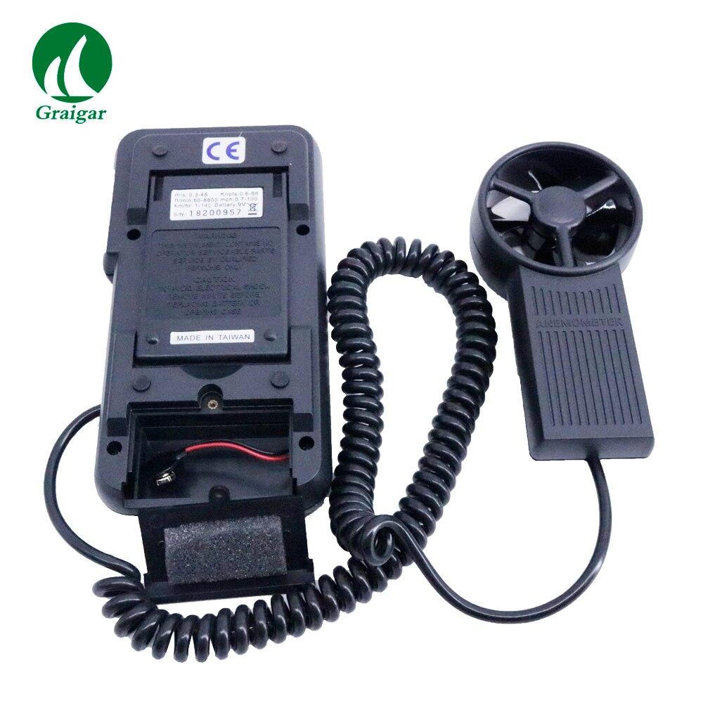 Anémomètre numérique à AVM-05 portatif jauge de vitesse de vent numérique plage de mesure 0.0 ~ 45.0 m/s - 3