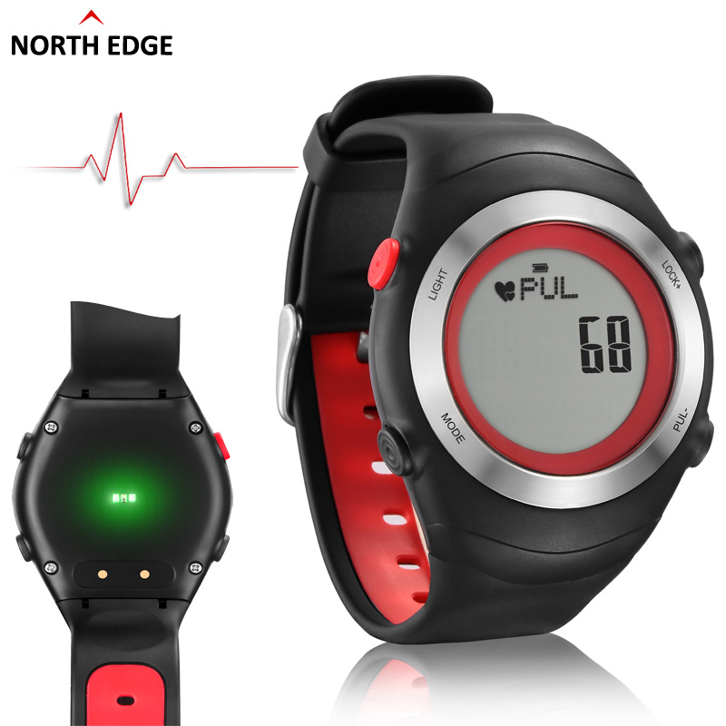 2016 Sports watch heart rate monitor sensor 3D Pedometer watches men running digital wristwatches outdoor chest