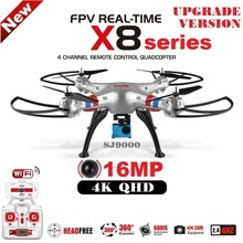 2016 New SYMA X8 X8C X8W X8G X8HG 6 Axis FPV RC Quadcopter With SJ9000 QHD WiFi Camera Professional Drone