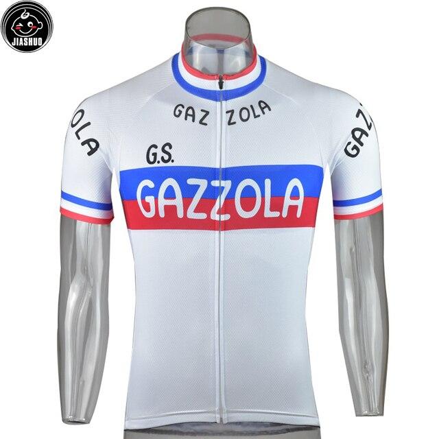 3e1d7e13b White Classical Retro NEW Pro Team Bike Cycling Jersey Breathable  Customized Jiashuo Road Mountain