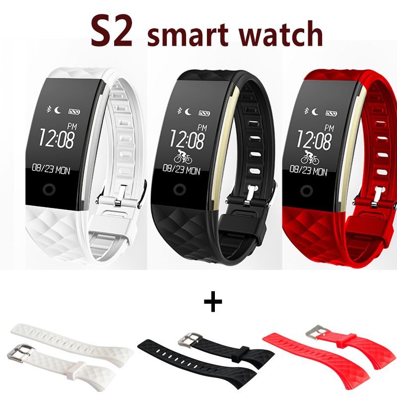 S2 Wristband Fitness bracelet Calorie Counting Wrist Band Heart Rate Pedometer Smart Bracelet IP67 Smart Band
