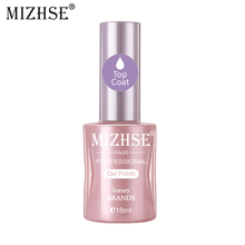 MIZHSE Gel Nail Polish 18ml Base Coat Top UV LED No Wipe Transparent Primer Soak Off Pure Color Lacquer