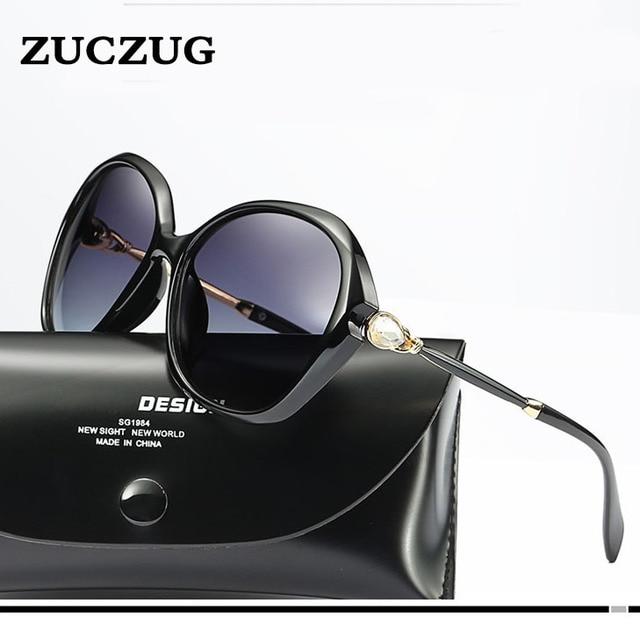 d238b54694261 Mulheres pérola óculos de Sol Escudo Óculos de Sol Grande Quadro HD  Polarized Óculos Menina Óculos
