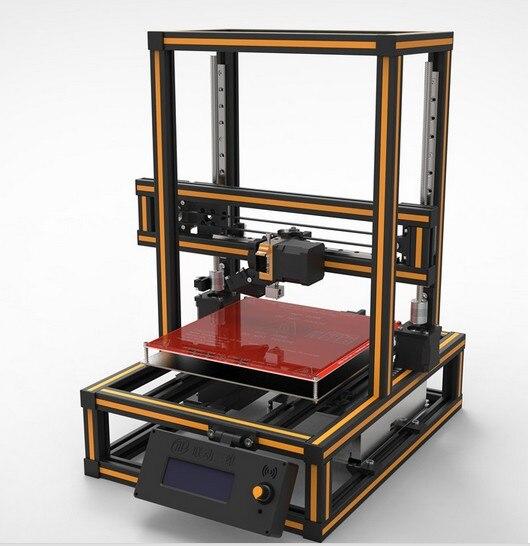Kit de impresora 3D prusa I3 alta precisión carril de aluminio línea de versión
