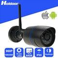 Wi-fi 960 p 6.0mm lens ip p2p câmera de segurança micro sd slot para cartão de gravação de vídeo motion detection alerta de e-mail de alarme à prova d' água IP65