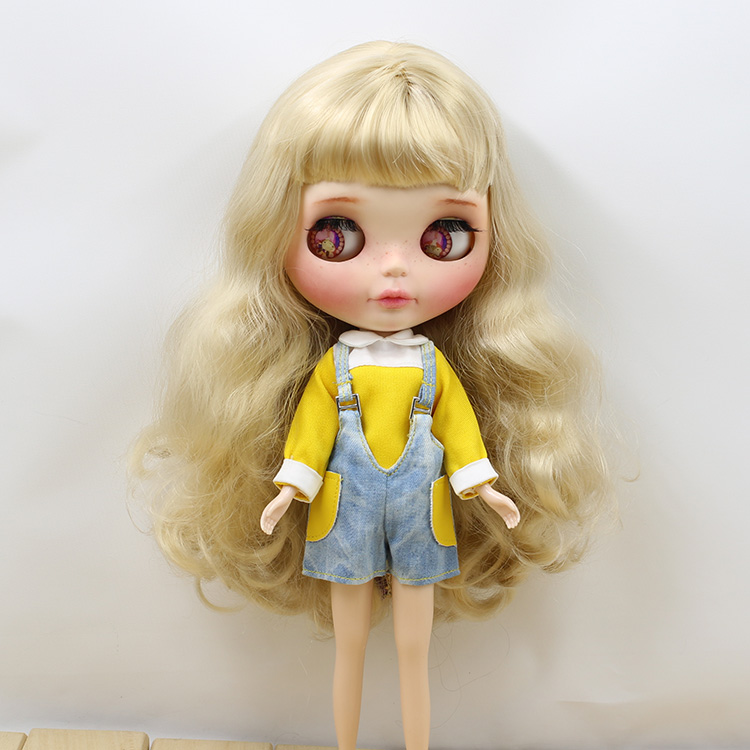 Neo Blythe Doll Jumpsuit Overall Yellow Dress 1
