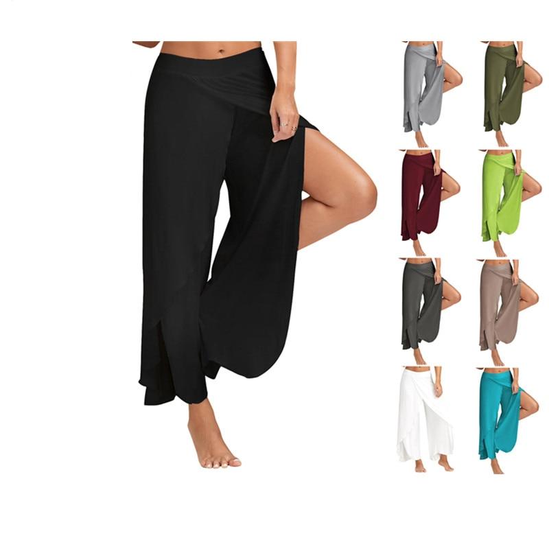 Casual Gypsy Women   Pants   Women   Wide     Leg     Pants   Loose Split Casual   Pants   Vintage Hippie Femme   Wide     Leg   Harem Trousers Sportswear