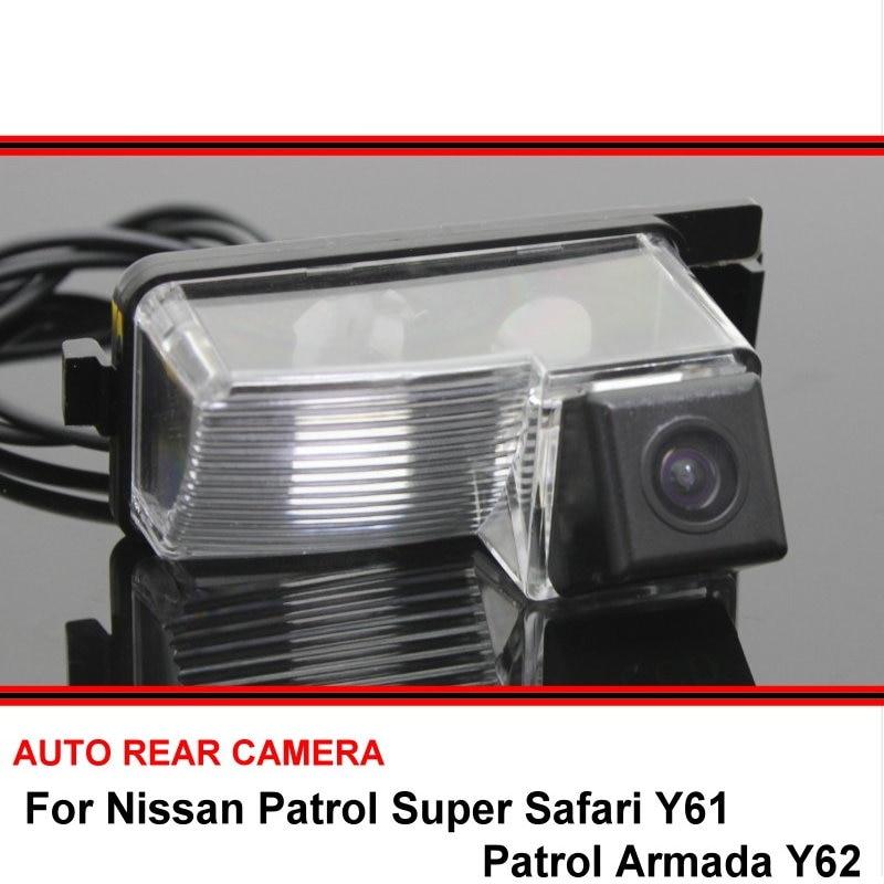 For Nissan Patrol Super Safari Y61 Patrol Armada Y62 Night Vision Rear View Camera Reversing Camera Car Back Up Camera HD CCD