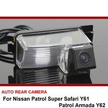 Per Nissan Patrol Super Safari Y61 Patrol Armada Y62 Visione Notturna Videocamera vista posteriore Telecamera di retromarcia Auto Back up Della Macchina Fotografica HD CCD