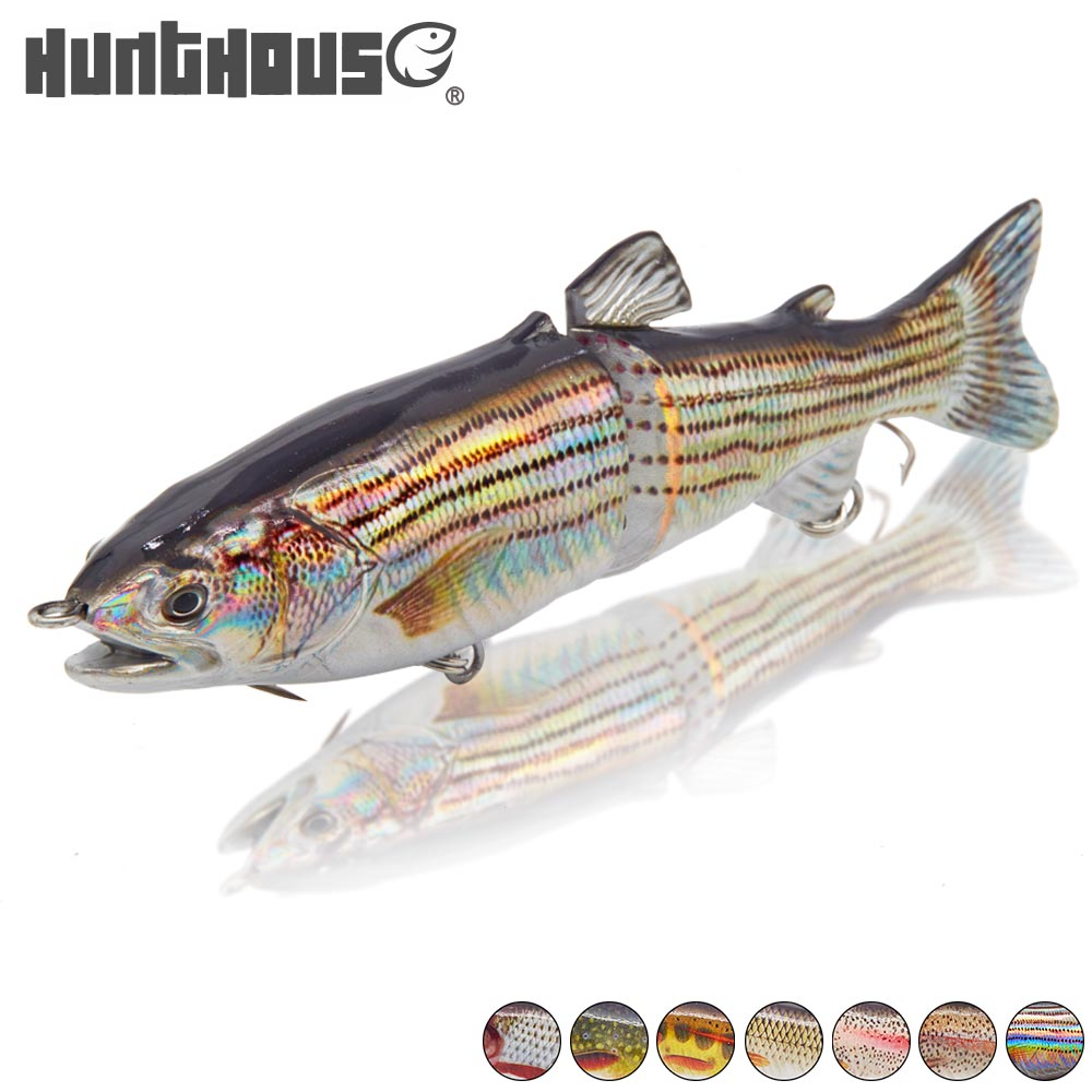 Hunthouse Hard Bait 1Pcs 2 Jointed Section Swimbait Fishing Lures Hard Lures With VMC Hooks Crankbait Artificial Bait