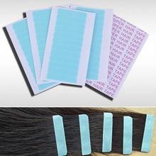 12 vnt. (1 lapai) aukštos kokybės stiprios plaukų priauginimo juostos lipni mėlyna super juosta / dvipusiški plaukų juosta, vokiečių markė