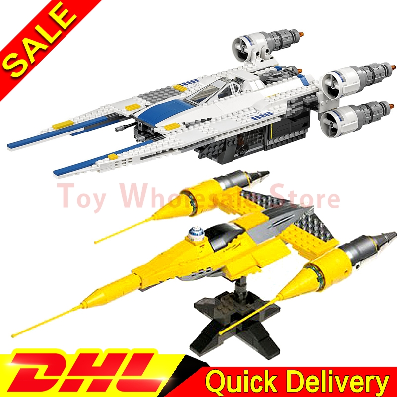 Lepin 05054 Star battle Kits Rebel U-Wing Fighter + 05060 Naboo Style Fighter Set Building Blocks Bricks Toy Clone 75155 10026 new 679pcs lepin 05054 genuine star war series the rebel u wing fighter set building blocks bricks toys 75155