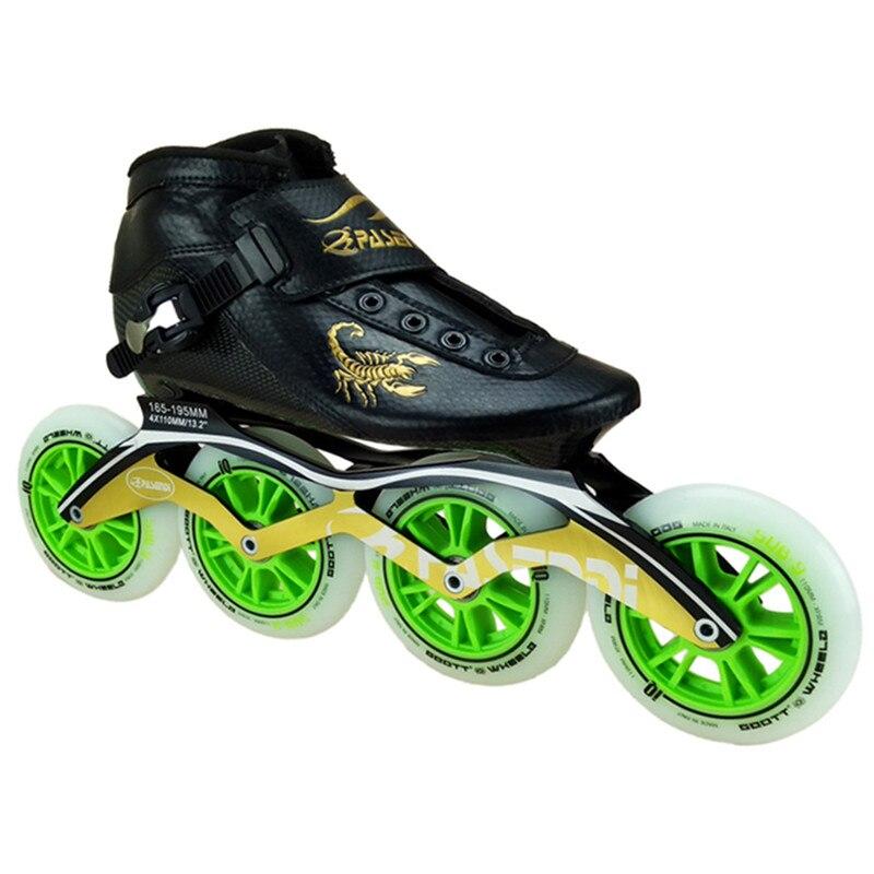 Sport & Unterhaltung Skate-schuhe Qualifiziert Pasendi Kohlefaser Professionelle Eisschnelllauf Schuhe Frauen/männer Inline Skates Racing Schuhe Erwachsenes Kind Skating Schuhe