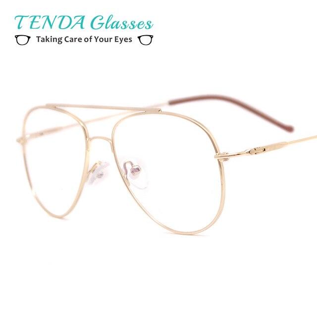 TendaGlasses Aviação de Metal Tamanho Grande Quadro Óculos de Sol Piloto Homens  Óculos De Prescrição Óculos 1d5c008aa2
