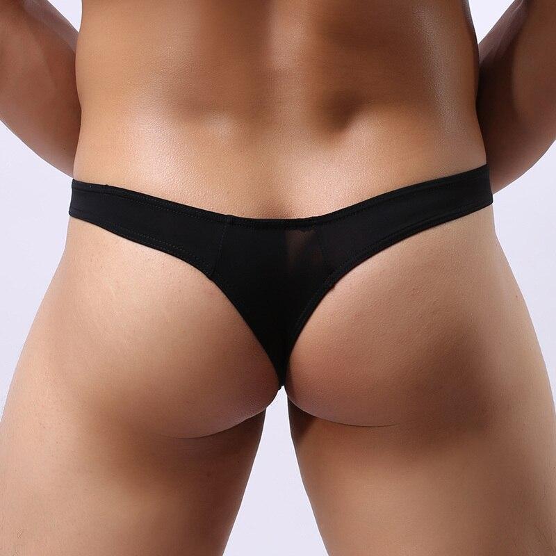 String Sexy Ultra-mince t-back hommes sous-vêtements hommes Jockstrap tongs doux Lycra mâle culottes Gay homme string Bikini livraison directe