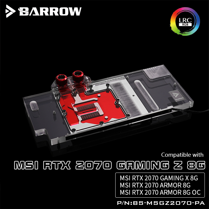 Barrow BS MSGZ2070 PA LRC 2 0 Full Cover Graphics Card Water Cooling Blocks For MSI