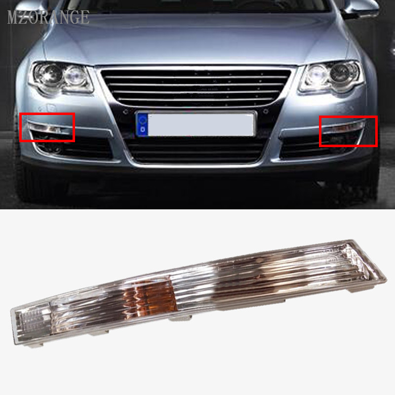 MZORANGE Car Styling Bumper Side Marker Front Turn Signals Light Lamps For Passat B6 For VW/For Volkswagen/Magotan 2006-2010 for volkswagen vw passat b6 3c2 2005 2010 led car styling side mirror with indicator turn signals lights 1k0 949 101 102