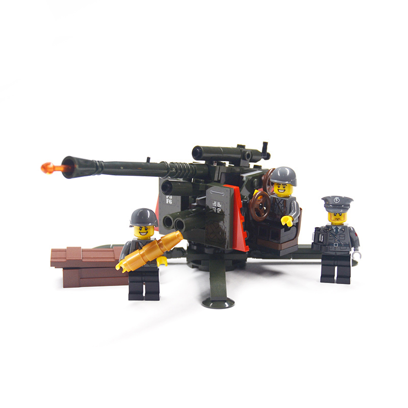 все цены на Military Weapon Building Blocks Brick Series City Weapon Antiaircraft Gun MOC Model Compatible Legoing DIY Toy For Kids