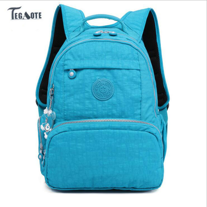 TEGAOTE Women School Backpack for Teenage Girls Mochila Feminina Escolar Kipled Nylon Travel Laptop Bagpack Female Sac A Dos bag school backpack for teenage girl mochila feminina women backpacks nylon waterproof casual laptop bagpack female sac a do