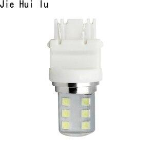1 Uds. Bombilla LED para automóvil T25 2835 SMD, carcasa 3157 brillante de silicona, 12 Chips de Color blanco frío 580 W21/5W W3x16q, lámpara de luz para coche