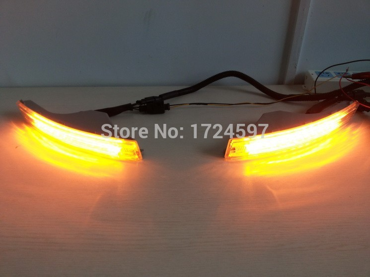Osmrk led drl daytime running light dengan auto dim / OFF control + turn light + on / off switch untuk Volkswagen VW Passat B6 R36 3C