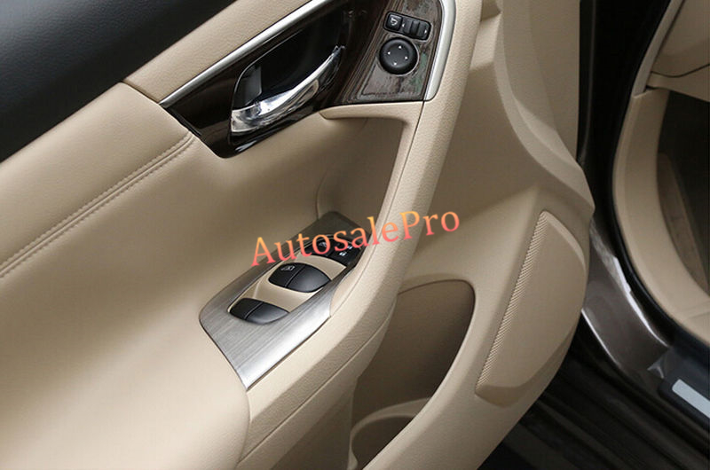 left hand drive Interior Door Cover Armrest Trim 4Pcs for Nissan Teana Altima 2013 2014 2015 for nissan murano 2015 2016 for left handed driving inner car window device panels side door armrest decorative frame trim 4pcs