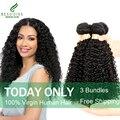 Бразильский Kinky Вьющиеся Волосы Девственницы 3 связки Kinky Вьющихся Волос Бразильский Странный Вьющиеся Плетение Волос Бразильский Волос
