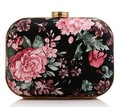 FREE SHIPPING Women's Retro Clutch Evening Bag Rose Peony hard PACKER Lady Single Shoulder Handbag Flap Hard Case 919