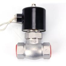 Stainless steel pilot piston steam solenoid valve, AC 220V DC 24V high temperature and high pressure, DN15 DN20 DN25 все цены