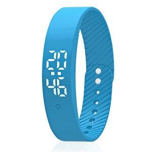 Image 2 - Pulsera inteligente impermeable 3D calorías contador de pasos Fitness rastreador compatible con múltiples modos deportivos banda inteligente caliente