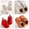 2016 Newest Newborn Baby Moccasins Brown Soft Soled White Shoes Infant Toddler Winter Warm Girls Boys Lace-up Boots Boys Booties