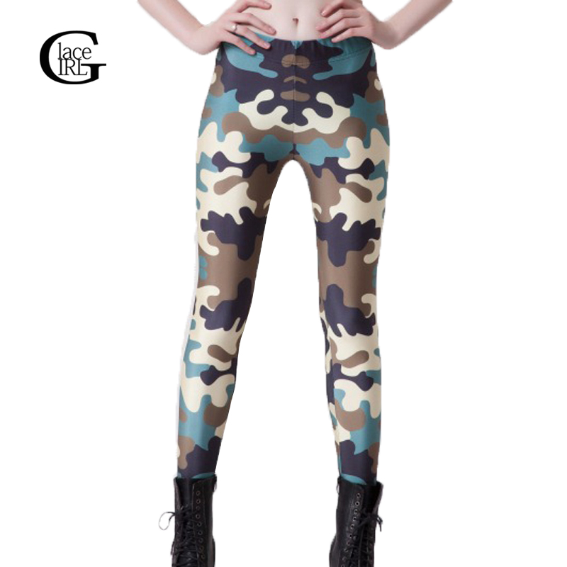 Lace Girl Women Camouflage Leggings Printed Slim Fitness -6217