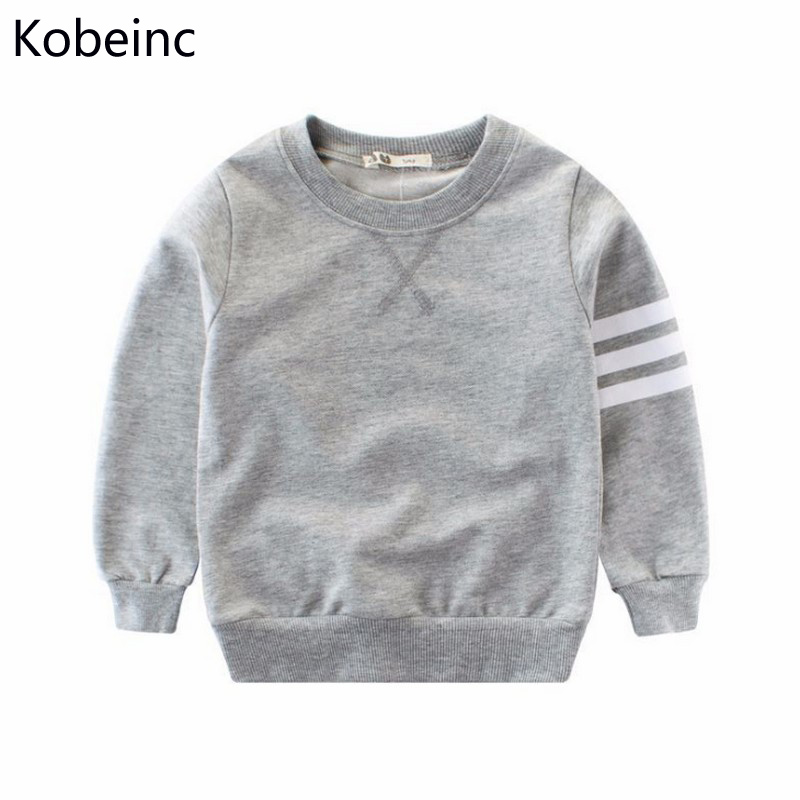 Kobeinc Long Sleeves Striped Printing Sweatshirts For Boy Spring New Fashion Round Neck Children Hoodies Baby Boys Clothing