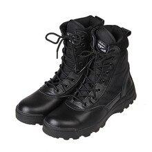 De alta Calidad de Los Hombres del Ejército Tactical Boots Nueva Moda Atan para Arriba Del Tobillo Botas Los Hombres Zapatos de Deporte Al Aire Libre Senderismo 39-45