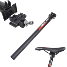 Bike Bicycle Seatpost 30.8/31.6*450mm Seat Tube Ultra-light Aluminum Alloy Seatposts Cycling Double nail Seat post Bicycle Parts mtb road bike bicycle seatpost carbon fiber high strength seat tube cycling ultra light seatposts 27 2 30 8 31 6mm 350 400mm