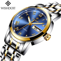 WISHDOIT Fashion Casual Quartz Watches Stainless Steel Women Watch Waterproof Clock Zegarek Damski Montre Femme Relogio Feminino