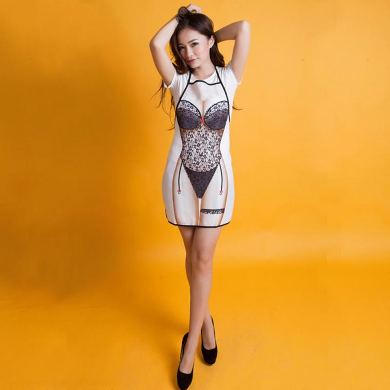 Naked In The Kitchen: Drop Shipping Sexy Lace Apron Funny Novelty Naked Woman