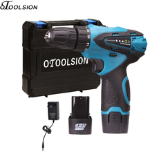 12V 1.3AH Electric Screwdriver 35N.m Cordless Drill Battery Hand +LED Power Indicator Light