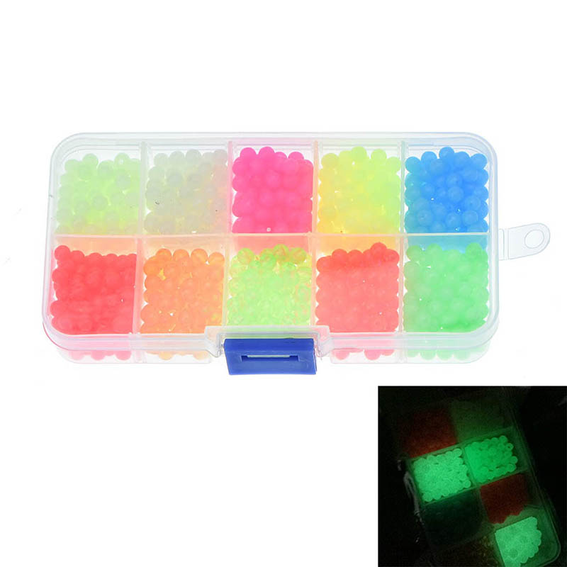1000 Assorted Orange  /& Green Glow in the Dark Luminous Oval /& Round Beads.